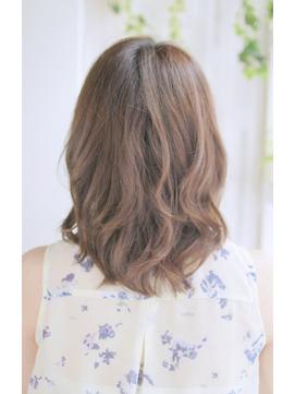 小顔セミウェットウェーブハイライトカラー美髪オリーブカラー07
