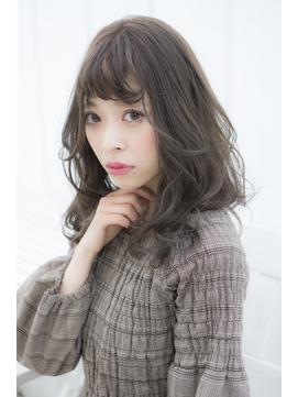 【miel hair渋谷】鎖骨ミディアム/カーキグレージュ