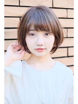 【東 純平】可愛い小顔丸みショートボブ