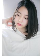 【GARDEN西川真矢】黒髪前髪なしワンカール小顔切りっぱなしボブ 20代.56