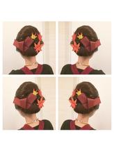 2017年☆秋祭りヘアセット 盛り髪.21