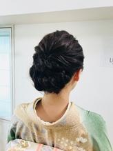 着物スタイル まとめ髪.18