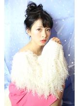 【avant】暗髪でも可愛いおだんごアレンジ.33