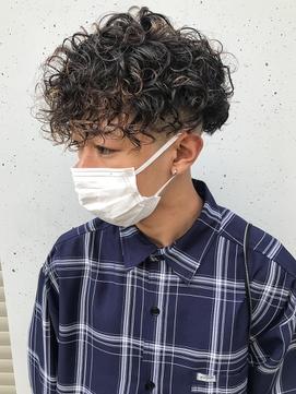 フェード バーバー ツーブロック スパイラルパーマ【山岸】