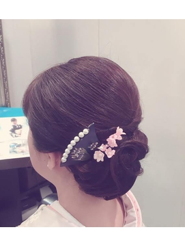 綺麗め和装シニヨン