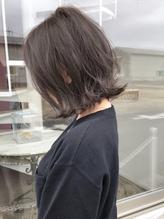 外ハネボブ×透明感抜群の暗髪グレージュ グレー.42