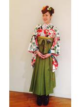 卒業式袴着付けヘアセット.27