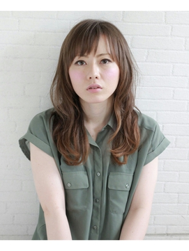 ゆるふわシルエット こなれセミロング【 藤枝/髪質改善/カラー】