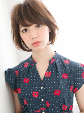 ふわ軽ショート×シースルーバング☆お嬢さま系 愛されマッシュ