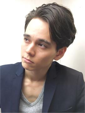 前髪かきあげメンズショート【RENJISHI】