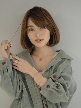 [enntaku 新宿]ワンカールパーマ小顔フレンチボブ30代40代50代
