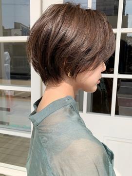 [NOA]前髪 イメチェン ラベンダーカラー ハンサムショート