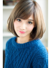 ☆大人可愛いオールマイティボブ★ワイドバング×くびれミディ .25