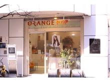 入口は可愛い「ORANGE POP」のロゴが目印です。