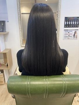 褒められ髪♪髪質改善ストレート☆