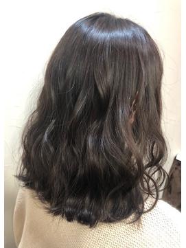 暗髪*透け感カラー
