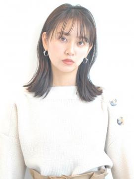 【K-two】シースルーバング☆ナチュラルミディ
