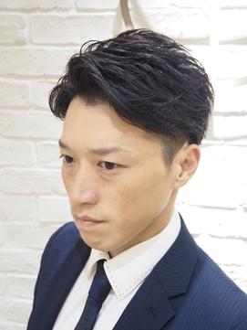 【ヨシザワ横浜】30代40代ビジネスアップバングリバースショート