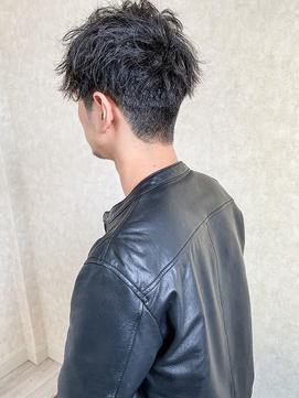メンズヘアショート束感カット刈り上げショートマッシュ