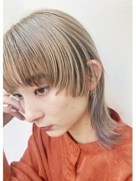 【peonyはまひ】くすみハイトーンカラー♪福岡/西新