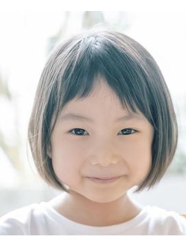 キッズ子供カット/前髪多め/女の子ショートボブ