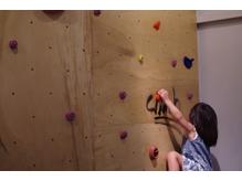 自然と子供たちが登りたくなる遊び心のあるスペース