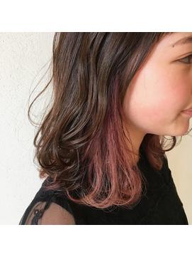 インナーカラー ピンクカラー デザインカラー 下北沢 Kota