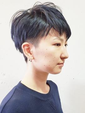 【ルチュラ松島】刈り上げ女子×パープルブラック