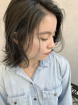 暗くても透け感の出る立体感ボブ/keshiki大名KAZU