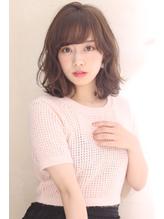 ゆるふわデジタルパーマ 小顔 バレイヤージュ ロブ 【山岡未夢】 .15