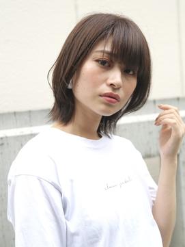 【SALON& 本部】小顔ひし形シルエットのショートウルフボブ