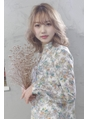 【viewt hair】サファリベージュ × ラフウェーブ 福山市