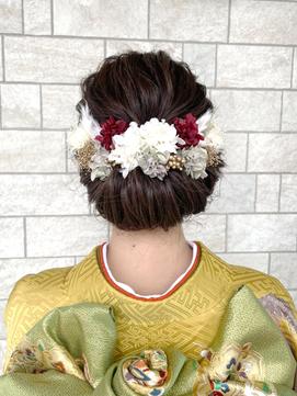 【AMAZING HAIR千歳店/森田】 成人式|和装|ギブソンタック