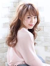 柔らかピンクベージュ☆アプリエカラーロング モード系.42