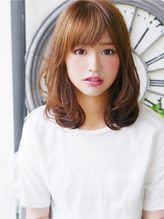 【ヘアジュレドゥ 花井】 プラチナ可愛い~ふわミディロブ☆ ゆるふわ.30