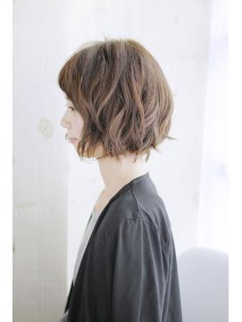 吉祥寺3分黒髪ホワイトアッシュショートパーマエアリーミディ001