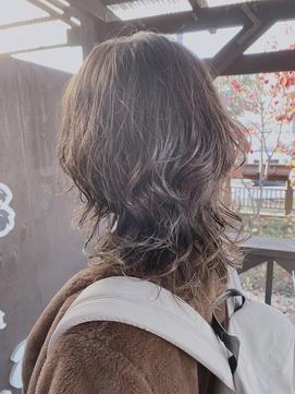 ウルフカットパーマスタイル☆