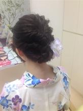 浴衣アレンジヘアー まとめ髪.28