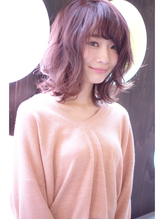 [vicushair]春髪pink×グレージュ×ラフ外巻きロブ .3