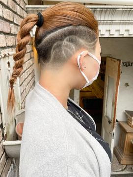 【roijir 山岸】スキンフェード女子 刈り上げ女子 ドラケンヘア