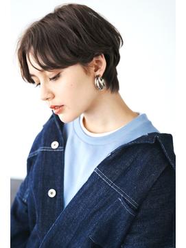 『毛束感 ×グレージュ』ひし形シルエット☆黒髪ベリーショート