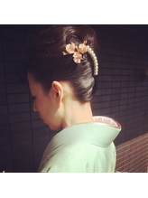 【下北沢*I'll b hair*】入学式や結婚式にオススメ★夜会巻き ホットカーラー.20