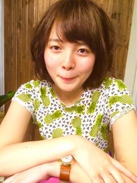 SUMMERポップな前上がりボブ!~Marbles横浜~