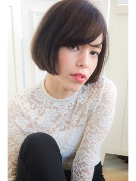 【lamp hair 】黒髪◎外国人風ボブ×ラベンダーアッシュ♪No.1