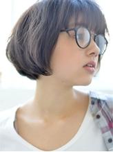 【butterfly郡司泰之】おしゃれメガネ ショートマッシュボブ メガネ.42