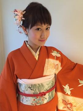 【下北沢*I'll b hair*】訪問着の大人可愛い編み込みアレンジ