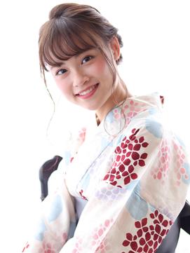 大人かわいい浴衣編み込みアレンジ 【marche佐藤】