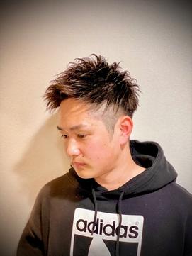宝塚駅前 アップバンク刈り上げショート【短髪ツーブロック】