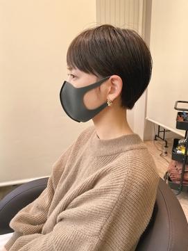 ○マスクをしてても可愛い耳かけコンパクトショート