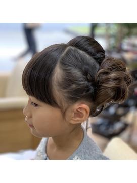 「キッズ」イベントヘアセット
